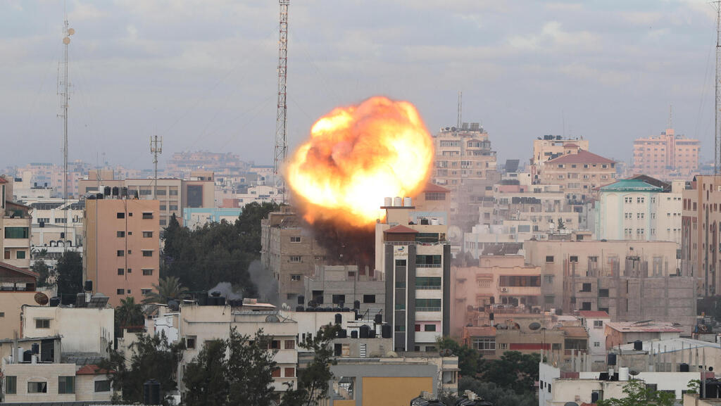 An Israel attack in Gaza. Photo: Reuters