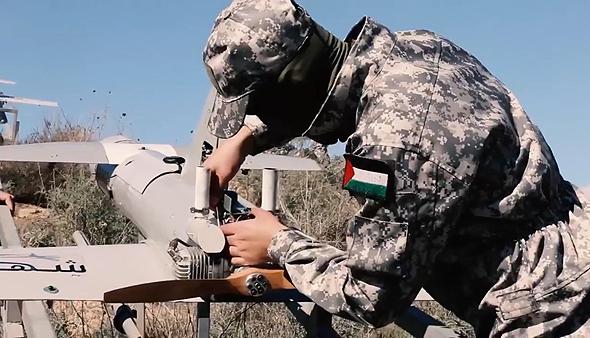 "אבאביל חמאס מזל""ט כטב""מ הקברניט, צילום: מתוך סרטון חמאס"