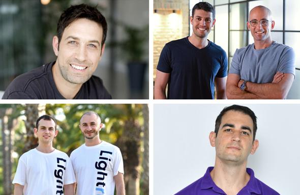 The companies' founders. Photo: Tomer Rotenberg/VOOM Insurance/apiiro team/Run:AI