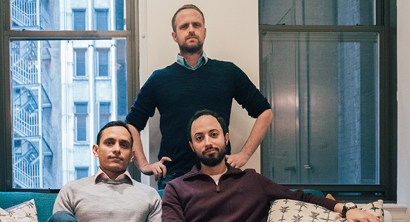 Solidus Labs co-founders Chen Arad (standing), Meir Asaf (right) and Praveen Kumar. Photo: Solidus Labs