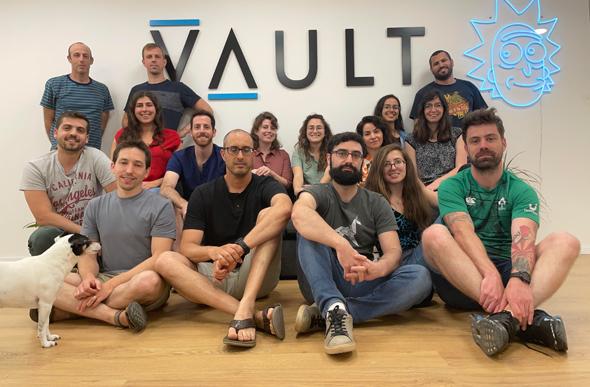 The Vault AI team, taking on Hollywood from Tel Aviv. Photo: Vault AI