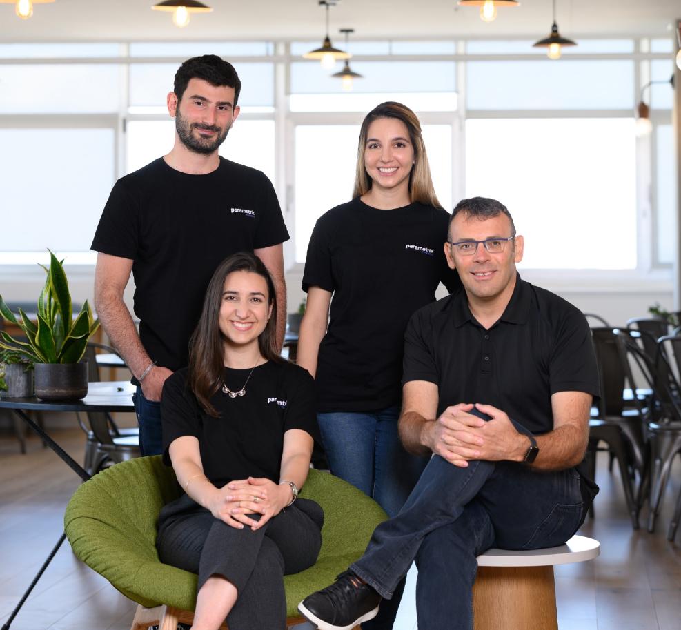 Parametrix co-founders Tamir Carmel (from right), Neta Rozy, Ori Cohen and Yonatan Hatzor. Photo: David Garb
