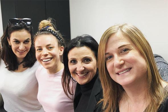 FemForward co-founders: Meirav Atun Amiry (left), Rachel Wagner Rosenzweig, Fleur Hassan-Nahoum, Mirit Leon Mendelovich. Photo: FemForward