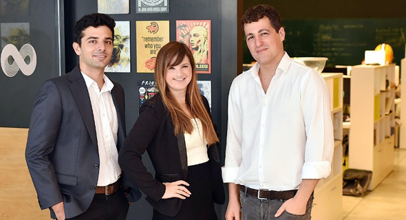 SAM co-founders Eilon Lotem (left), Sivan Rauscher, and Shmuel Chafets. Photo: Tomer Rotenberg