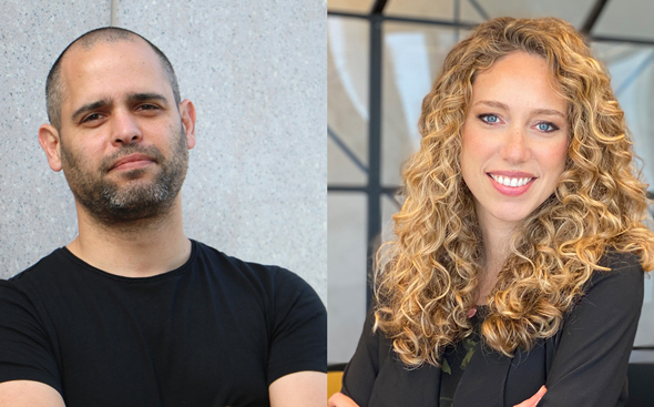 Yael Benjamin (right) and Nimrod Vromen. Photo: Courtesy