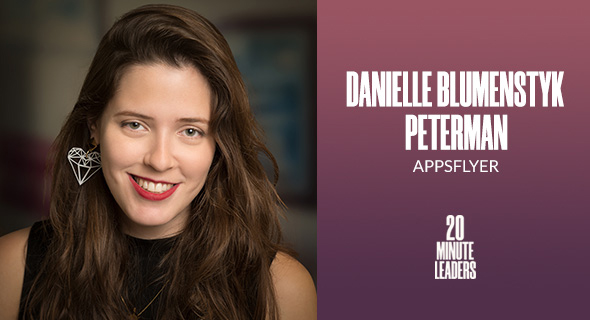 Danielle Blumenstyk Peterman, head of corporate communications at AppsFlyer. Photo: Yoram Reshef