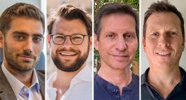 Tzvi Raviv (from right), Kenneth Mischel, Daniel Rubin and Oren Goldstein. Photo: Courtesy