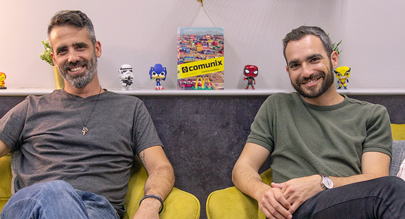 Comunix co-founders Idan Shriki (left) and Or Ben Shimon Photo: Or Kan Tor