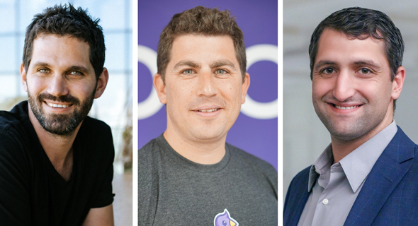 Left to right: Ziv Paz, Co-Founder and COO of Melio, Shahar Fogel, CEO of Rookout, and Ori Yankelev, Co-Founder and CRO of OwnBackUp. Photo: Melio, Rookout, and OwnBackup