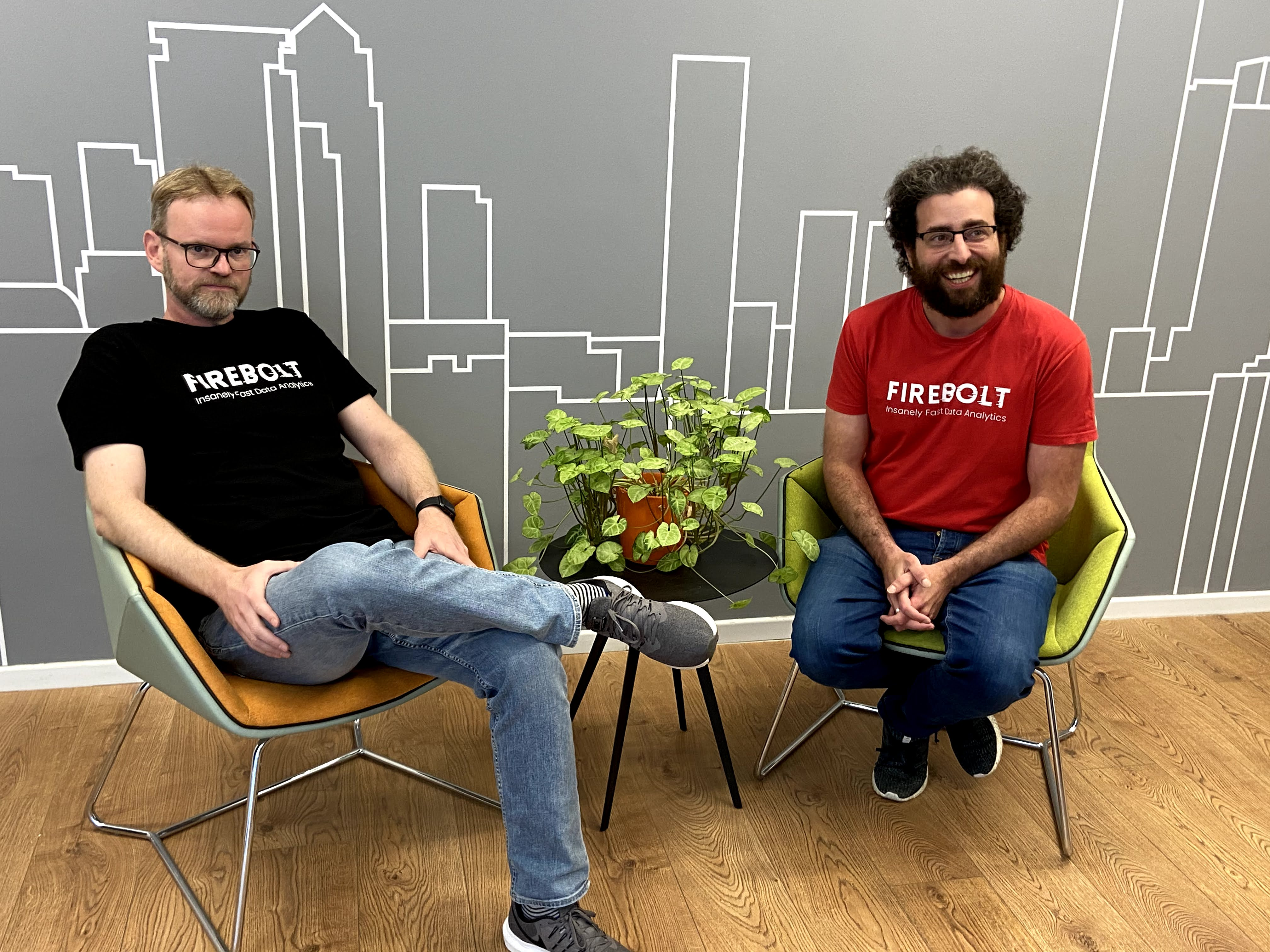 Firebolt co-founders Eldad Farkash (right) and Saar Bitner. Photo: Firebolt