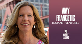 Amy Francetic, founder and managing general partner at Buoyant Ventures. Photo: Amy Francetic
