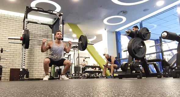 Alon Almog weightlifting. Photo: Courtesy