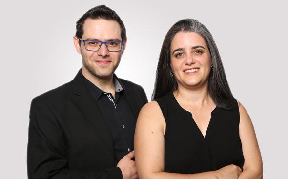6Degrees CEO Miri Berger and husband CTO Aryeh Katz. Photo: 6Degrees