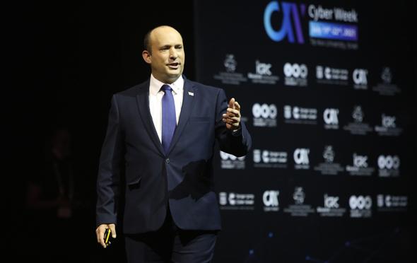 ראש הממשלה נפתלי בנט ב Cyberweek, צילום: חן גלילי