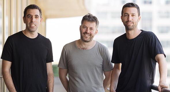 Bookaway co-founders Omer Chehmer (Left) Noam Toister, and David Yitzhaki Photo: Irad Netzer
