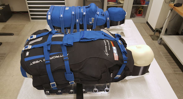 StemRad's vests worn by dummies. Photo: DLR/StemRad