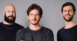 Tailor Brands co-founders Nadav Shatz (left), Yali Saar, and Tom Lahat. Photo: Tailor Brands