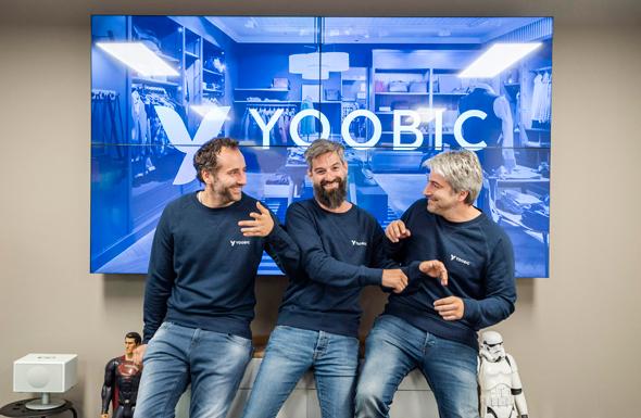 YOOBIC founders Fabrice Haiat, Avi Haiat, and Gilles Haiat. Photo: Ivo Nogueira