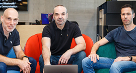 Wiliot co-founders. Photos: Nimrod Gnisher
