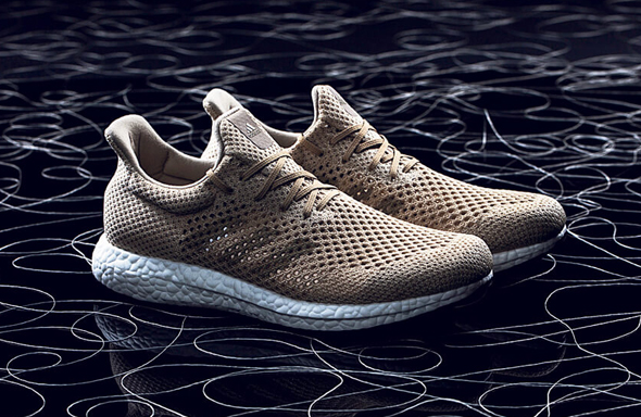 The new Adidas shoes from BioSteel fibers. Photo: Adidas