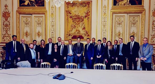The Israeli delegation to Paris at Elysee Palace. Photo: Leah Marciano