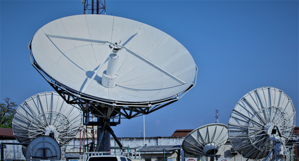 Some of the satellites that Gilat Telecom operates in action. Photo: Gilat Telecom