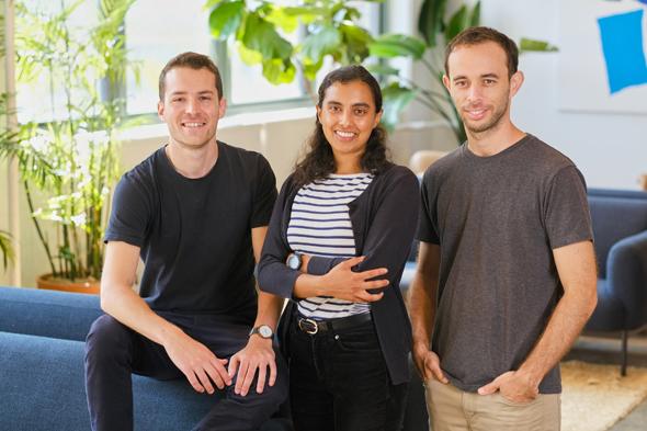 Weav co-founders Nadav Lidor (from left), Ambika Acharya and Avikam Agur. Photo: Vic Bess