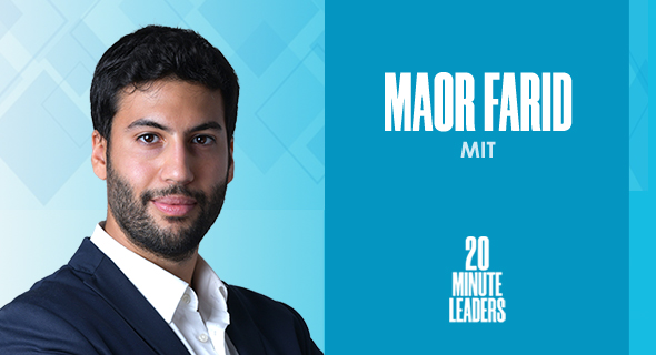 Maor Farid, postdoctoral Fulbright and ISEF Fellow, MIT. Photo:Maor Farid