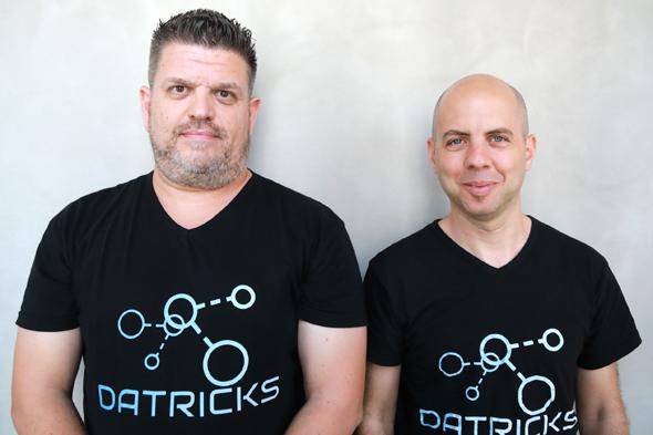 Datricks founders Haim Halpern (left) and Roy Rozenblum. Photo: Datricks