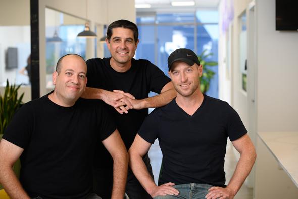 Jifiti co-founders Yaacov Martin (from right), Meir Dudai and Shaul Weisband. Photo: Jifiti