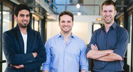 The D-ID Co-founders Gil Perry, Sella Blondheim, and Eliran Kuta. Photo: Yoram Reshef