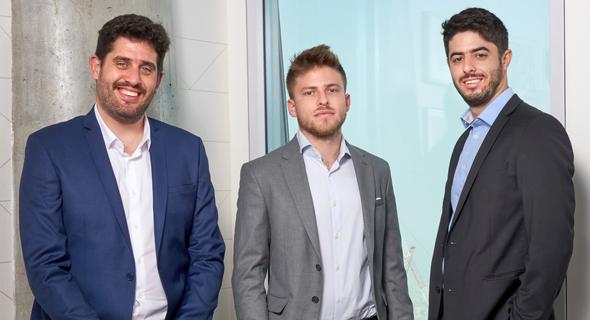 Eleos Health's co-founders Alon Joffe, Dror Zaide and Alon Rabinovich. Photo: Omri Mayron