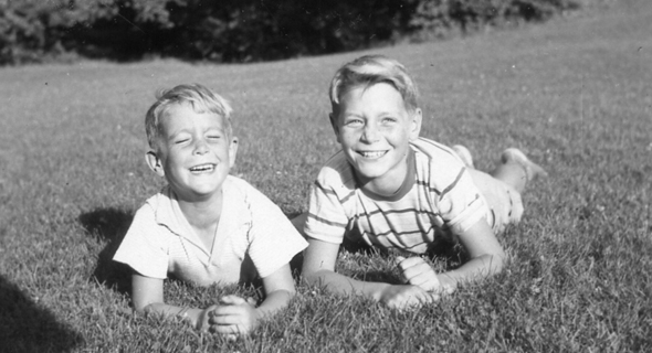 Giora and Itamar Yaron as kids. Photo: Courtesy of the family