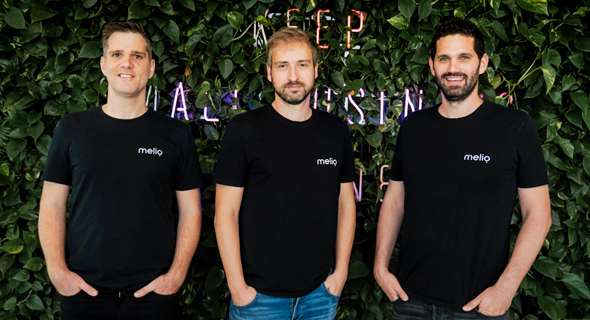 Melio co-founders Ilan Atias (from left), Matan Bar, and Ziv Paz. Photo: Roei Shur