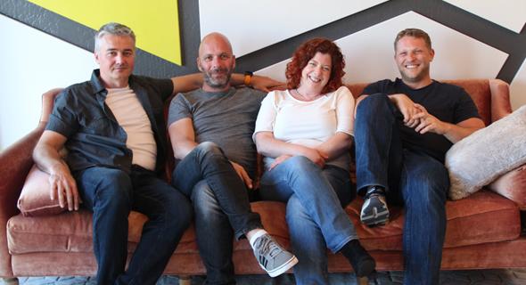 Versatile co-founders Ran Oren (from left), Danny Herman Meirav Oren and Barak Cohen. Photo: Ray Habot