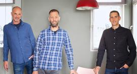 Spoutt Co-Founders Yoav Shaham, Assaf Henkin, and Itai Brickner. Photo: Lynn Counio