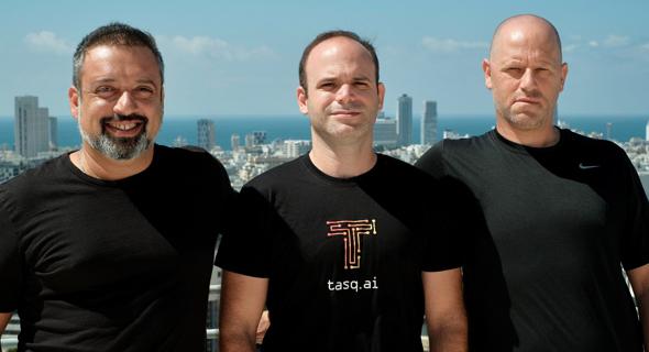 Left to right: Co-Founders Nathan Catalan, CRO; Yossi Motro, CTO; Erez Moscovich, CEO. Photo: Tasq.ai
