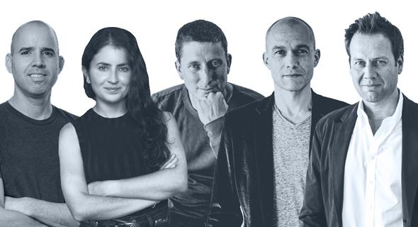NFX team (from right), Pete Flint, Gigi Levy-Weiss, James Currier, Morgan Beller and Omri Amirav Drory. Photo: NFX