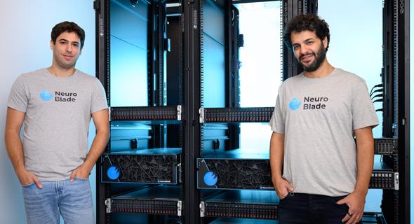 NeuroBlade founders Elad Sity (right) and Eliad Hillel. Photo: David Garb