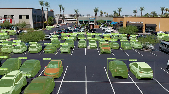 Wisesight's technological solution monitors vehicles in parking lots, and its sensors detect when a space becomes available. Photo: Wisesight