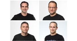 Clockwise from top left: Aviv Canaani, Nir Mandel, Yair Areli, and Zviki Shimon. Photo: DataRails