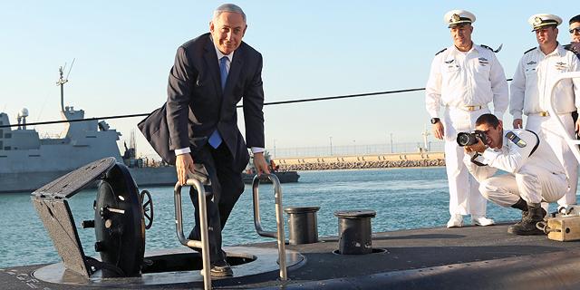 בנימין נתניהו ה צוללת ה חדשה אחי רהב בטקס קבלת הפנים ב נמל חיפה, צילום: אלעד גרשגורן