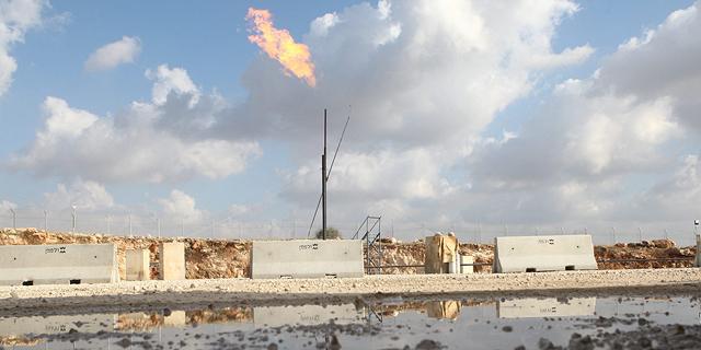 אתר קידוח גבעות עולם ב שדה מגד 5 נפט