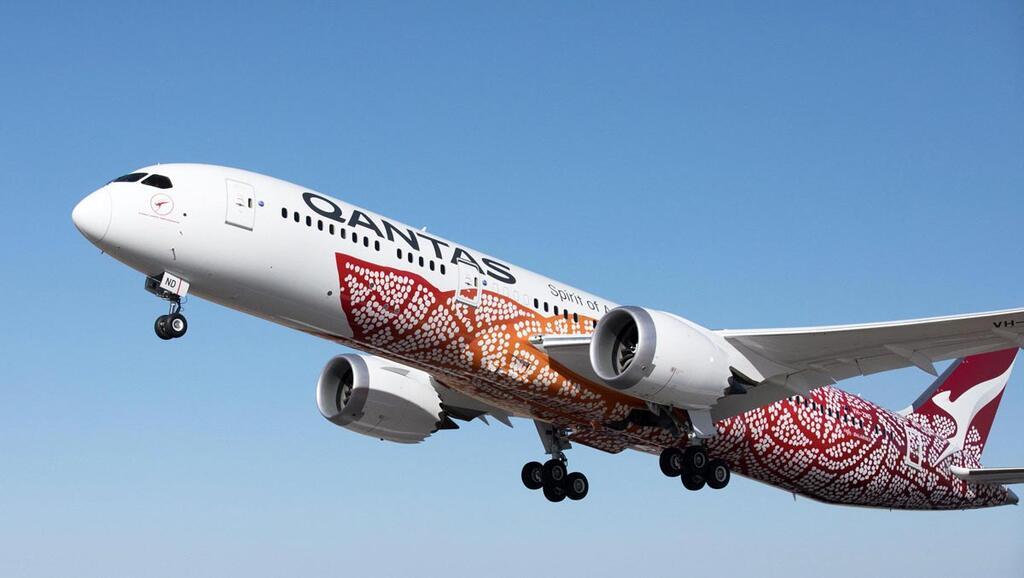 מטוס של חברת התעופה האוסטרלית קוואנטס מ פרת' ל לונדון
