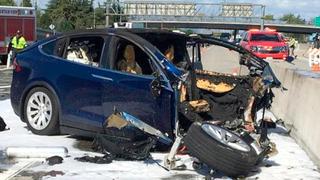 רכב טסלה שהיה מעורב ב תאונה הקטלנית, צילום: איי פי
