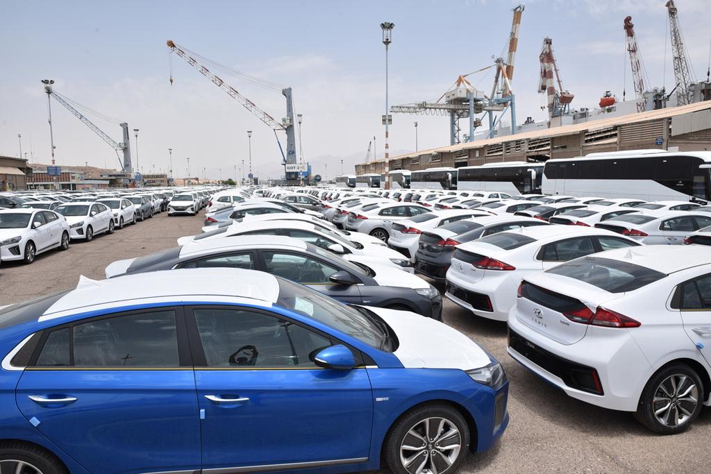 מוסף 3.5.18 צי רכבי יונדאי איוניק נמל אילת מכוניות