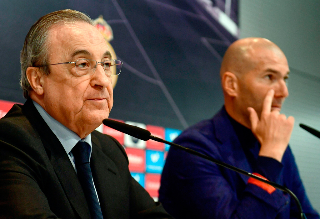 זינאדין זידאן פלורנטינו פרס מאמן ריאל מדריד נשיא ריאל מדריד