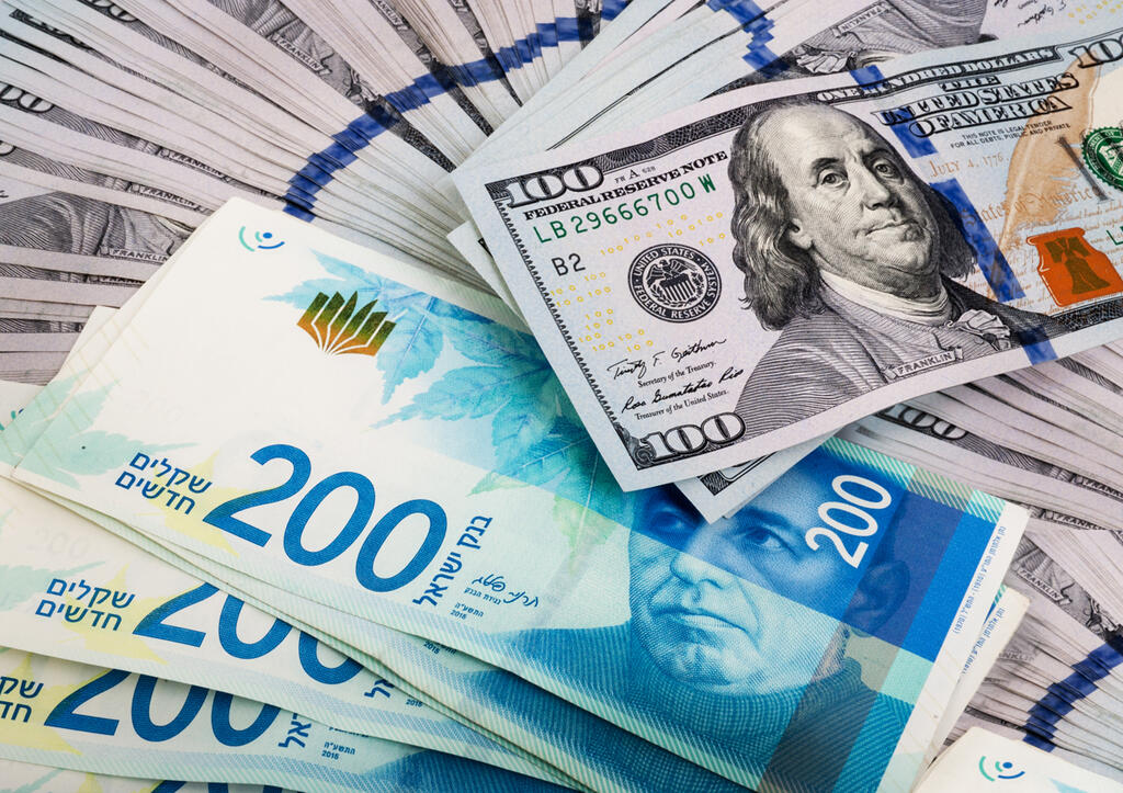 """שקל דולר מט""""ח מטבע חוץ שער חליפין כסף מזומן"""