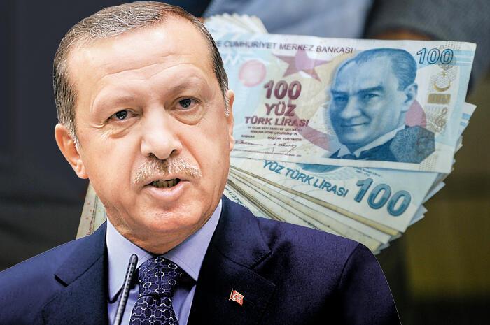 ארדואן לירה טורקית מטבע כסף שטרות טורקיה
