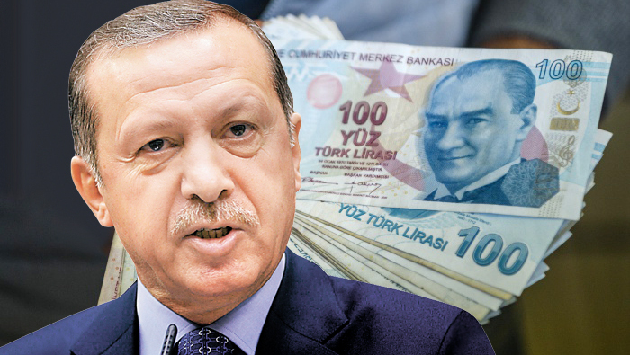 ארדואן לירה טורקית מטבע כסף שטרות טורקיה, צילום: איי אף פי, רויטרס